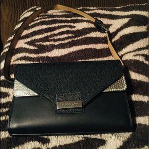 Michael Michael Kors Black Python Belt Bag